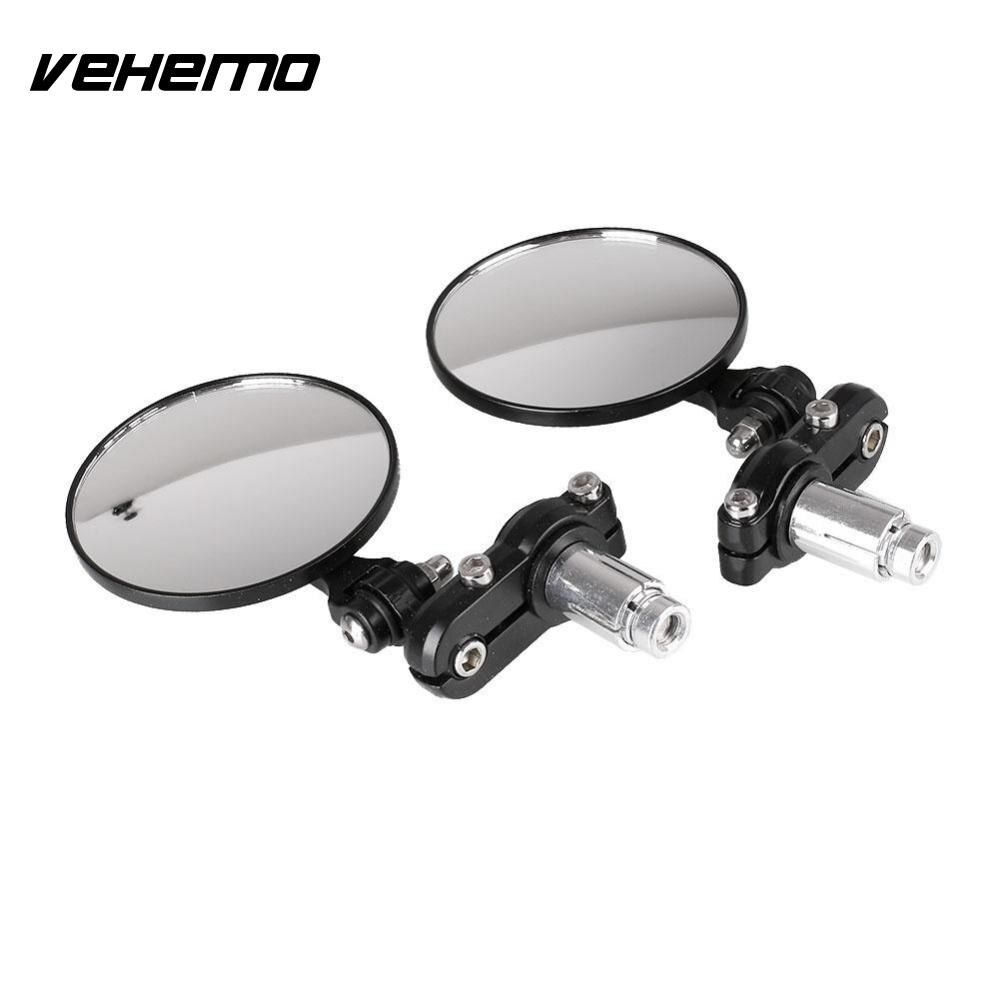 Universal Motorcycle Mirrors Round Bar End Rear Mirrors Motorcycle Scooters Rearview Side Mirrors Handlebar Mirrors Cafe Racer