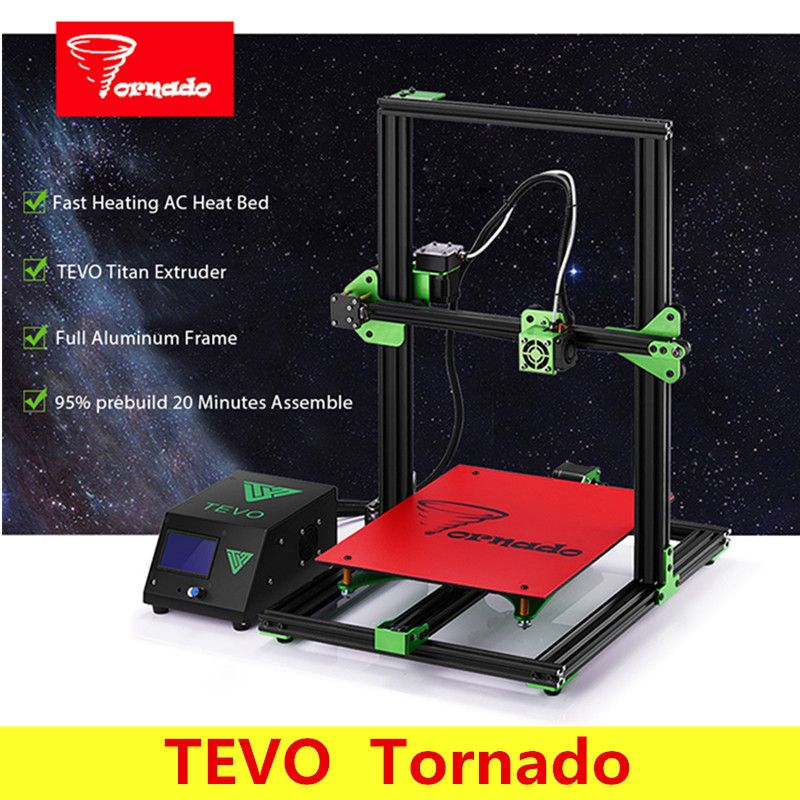 TEVO Tornado 3D Printer Most Assembled Full Aluminum Frame Larger Printing Area / Titan Extruder Impresora As Gift