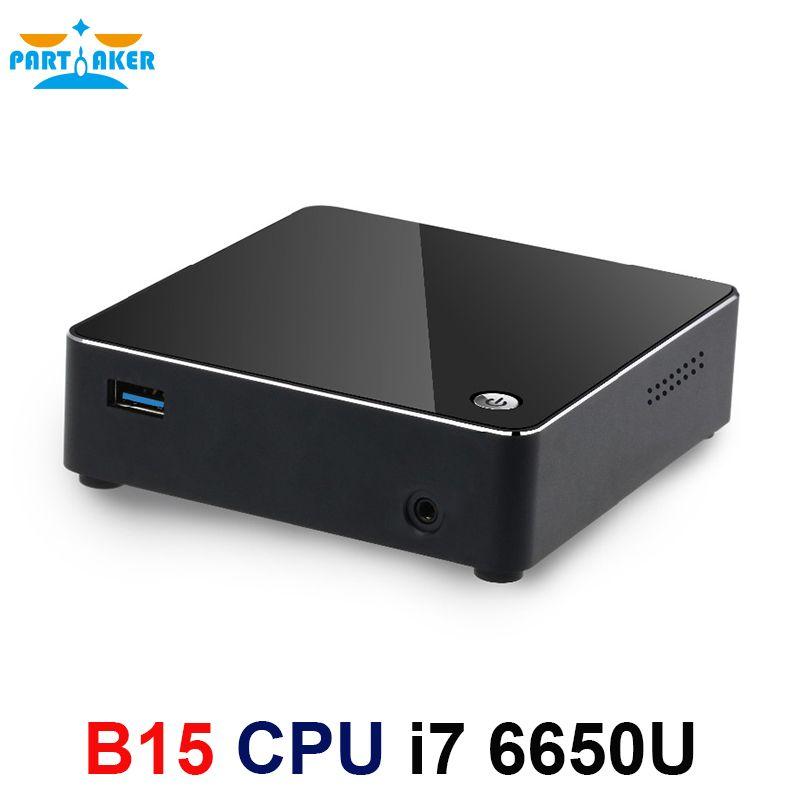 Skylake Mini PC i7 6650U Windows 10 DDR4 Ram M.2 SSD Nuc Grafiken Iris 540 5G AC Wifi Bluetooth HTPC HDMI Mini DP