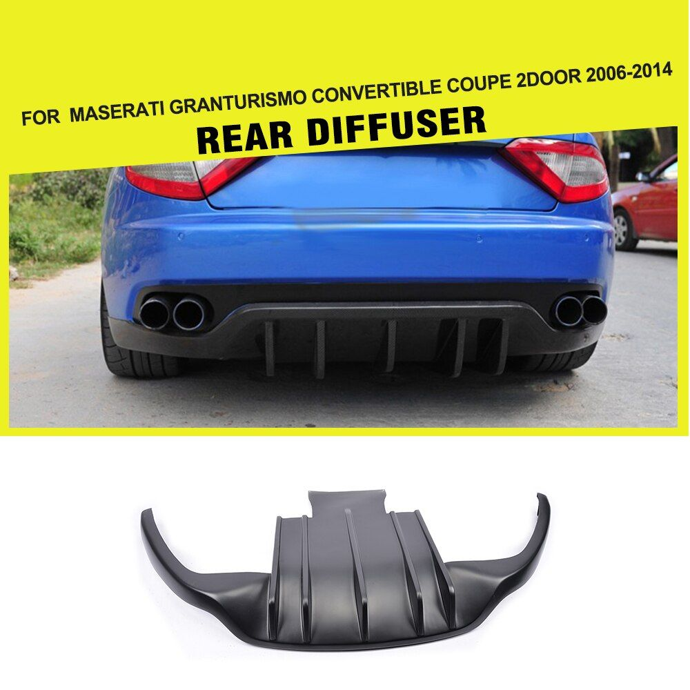 Carbon Faser/FRP Heckschürze Diffusor Lip Schutz für Maserati GranTurismo Cabrio Coupe 2 Tür 2006-2014 Auto styling