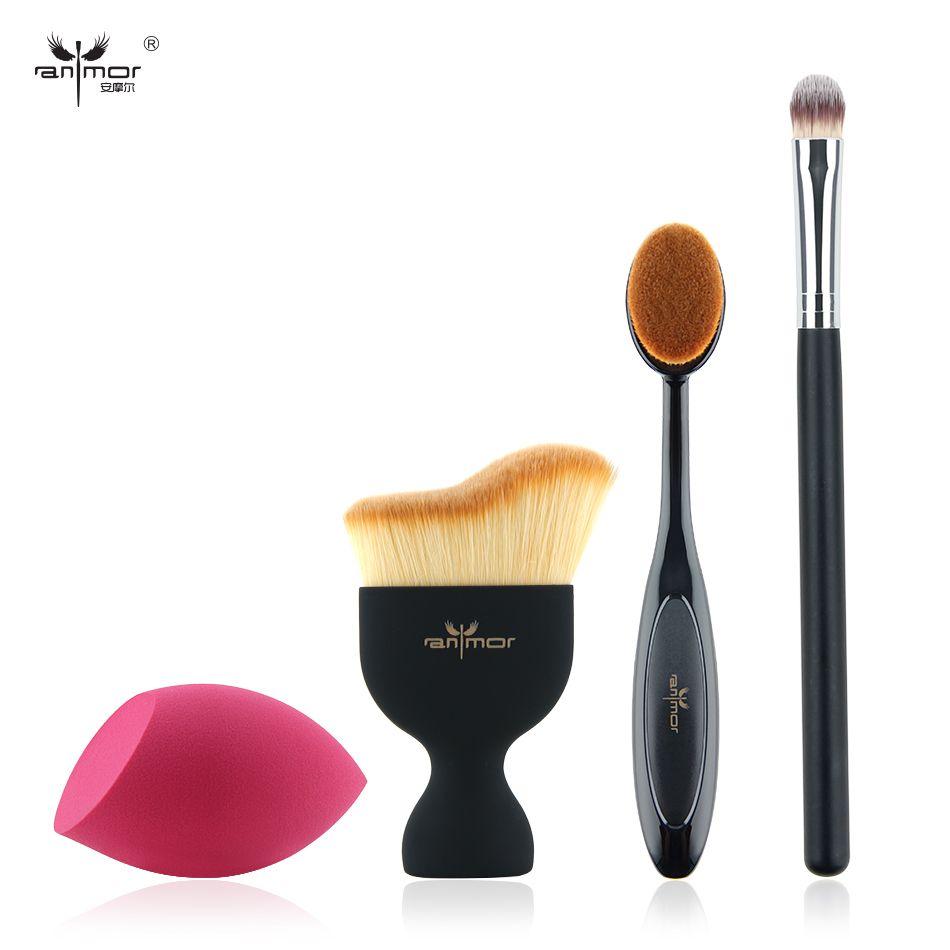 Nouveau Design Fondation Brosse Kit 4 pcs Maquillage Brosses Cosmétiques Crème Poudre Blush Maquillage Brosse Ensemble