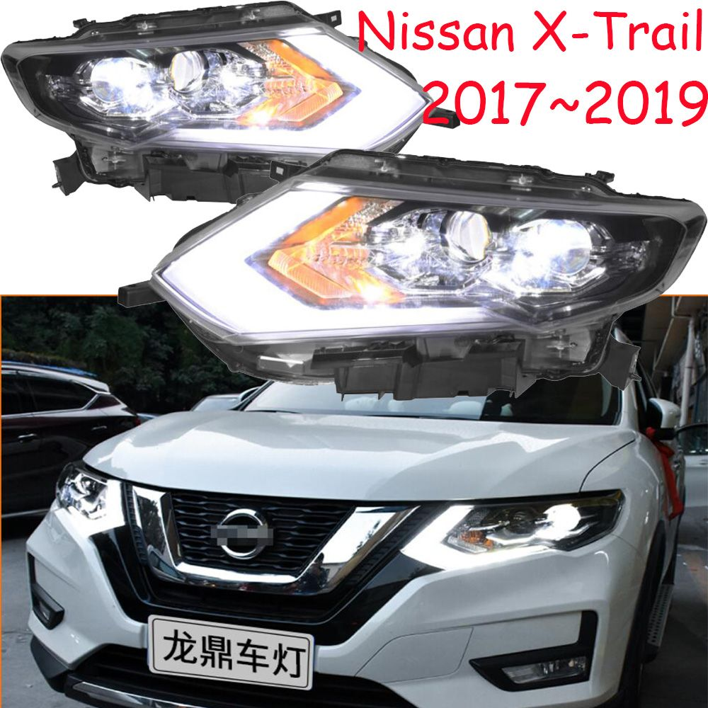 LED, 2017 ~ 2019, Auto Styling, X-trail Scheinwerfer, Micra, Titan, versa, stanza, sentra, Tsuru, stagea, Rogue; X-trail kopf lampe, Rogue, X Trail