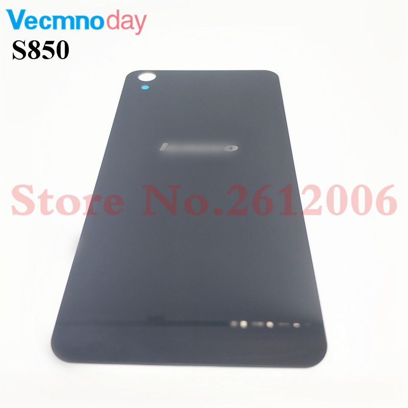 Original For Lenovo S850 S850T Case Replacement Glass Back Cover Battery Rear Door Housing Funda STICKER Adhesive With Logo