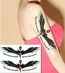 Segar stiker alphabet mimpi tahan air besar sayap angle sayap kupu-kupu tattoo designs A5032