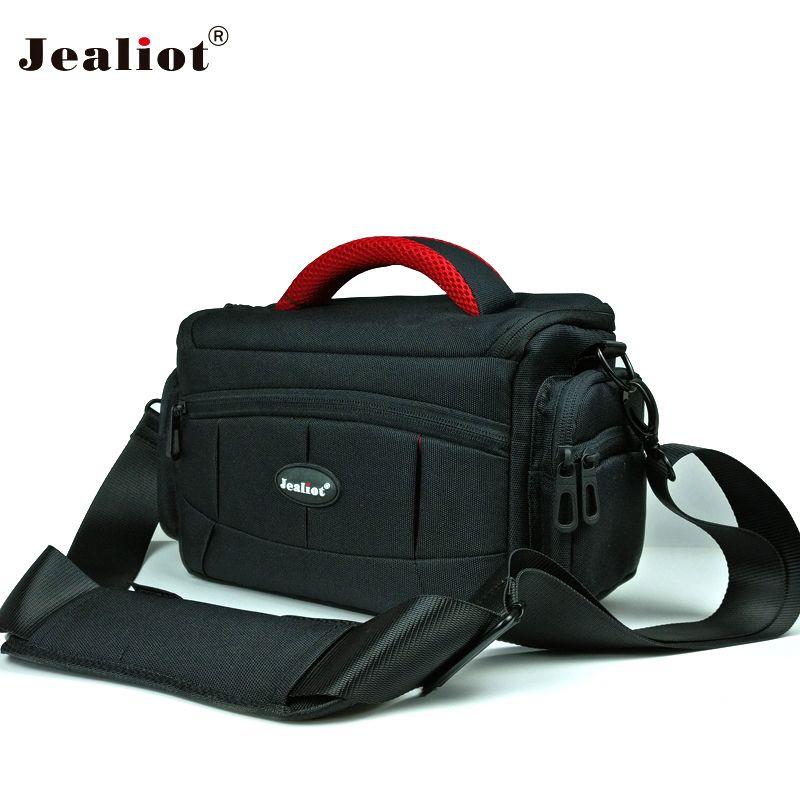 Jealiot sac pour Appareil photo sac rembourrage REFLEX DSLR photo sac à bandoulière appareil photo numérique foto Vidéo lentille cas pour Canon 6d 70d 1300d Nikon