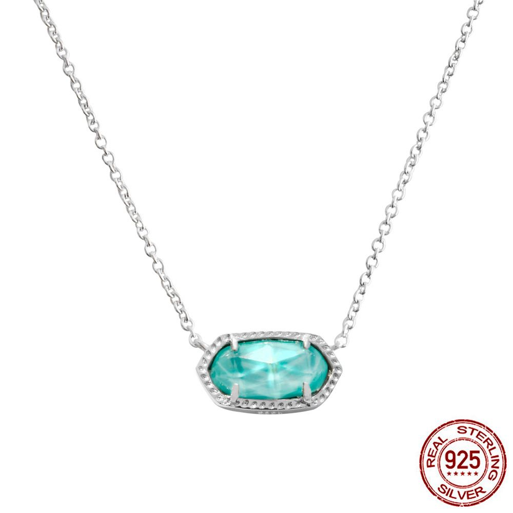 925 Sterling Silver London Blue Luck Necklaces&Pendants For Women Fashion Lady Valentine's Day gift Sterling-silver-jewelry