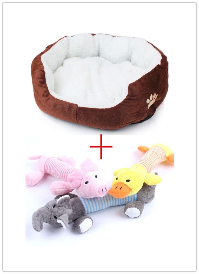 Pet Products coton chien lit pour chats chiens petits animaux chambres maison Pet lits coussin de haute qualité pas cher ajouter chien jouets