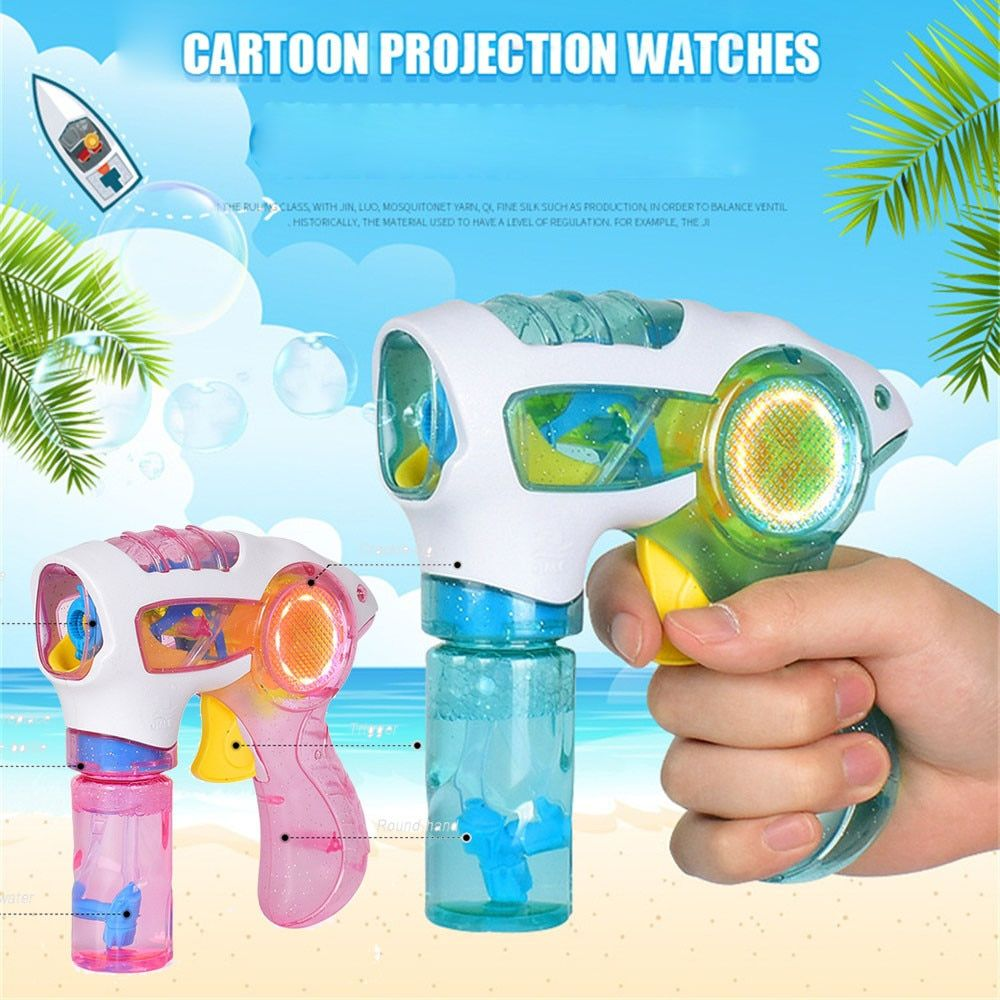 High Qualitity Flashing Light Up Children Bubble Summer Swimming Machine Toys New Flashing Birthday Gift Outdoor Toys For Kids