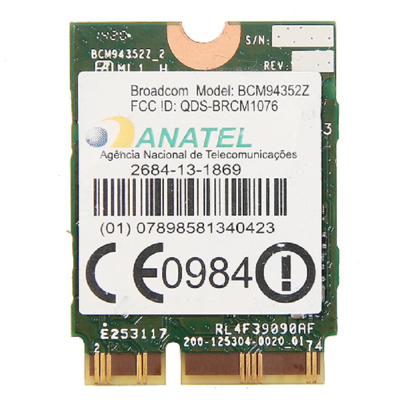 New Broadcom BCM94352Z Dual band Wireless-AC NGFF 802.11ac 867Mbps WIFI Bluetooth BT 4.0 Card For IBM/Lenovo/Thinkpad 04X6020