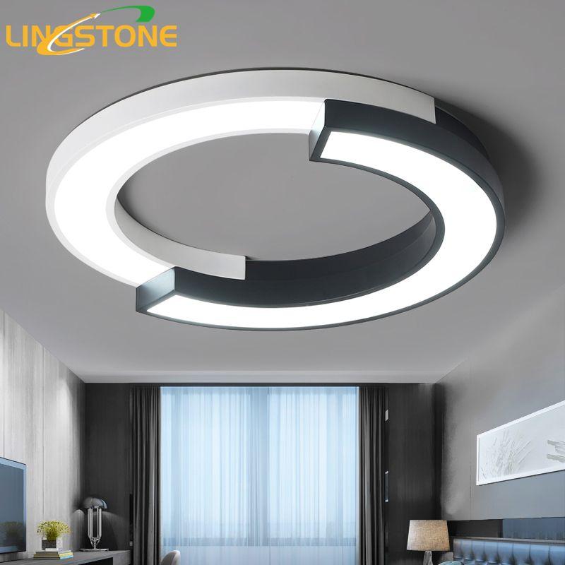 Moderne Led-deckenleuchten für Wohnzimmer Putz Leuchten Decken Lampe mit Fernbedienung Küche Runde Lampe