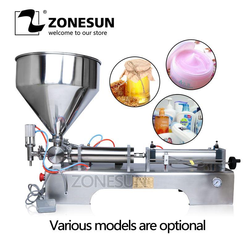 ZONESUN Viele Füllung Palette Pneumatische Volumen Softdrin Flüssigkeit Füll Maschine Öl Wasser Saft Honig Seife Creme Paste Füllstoff