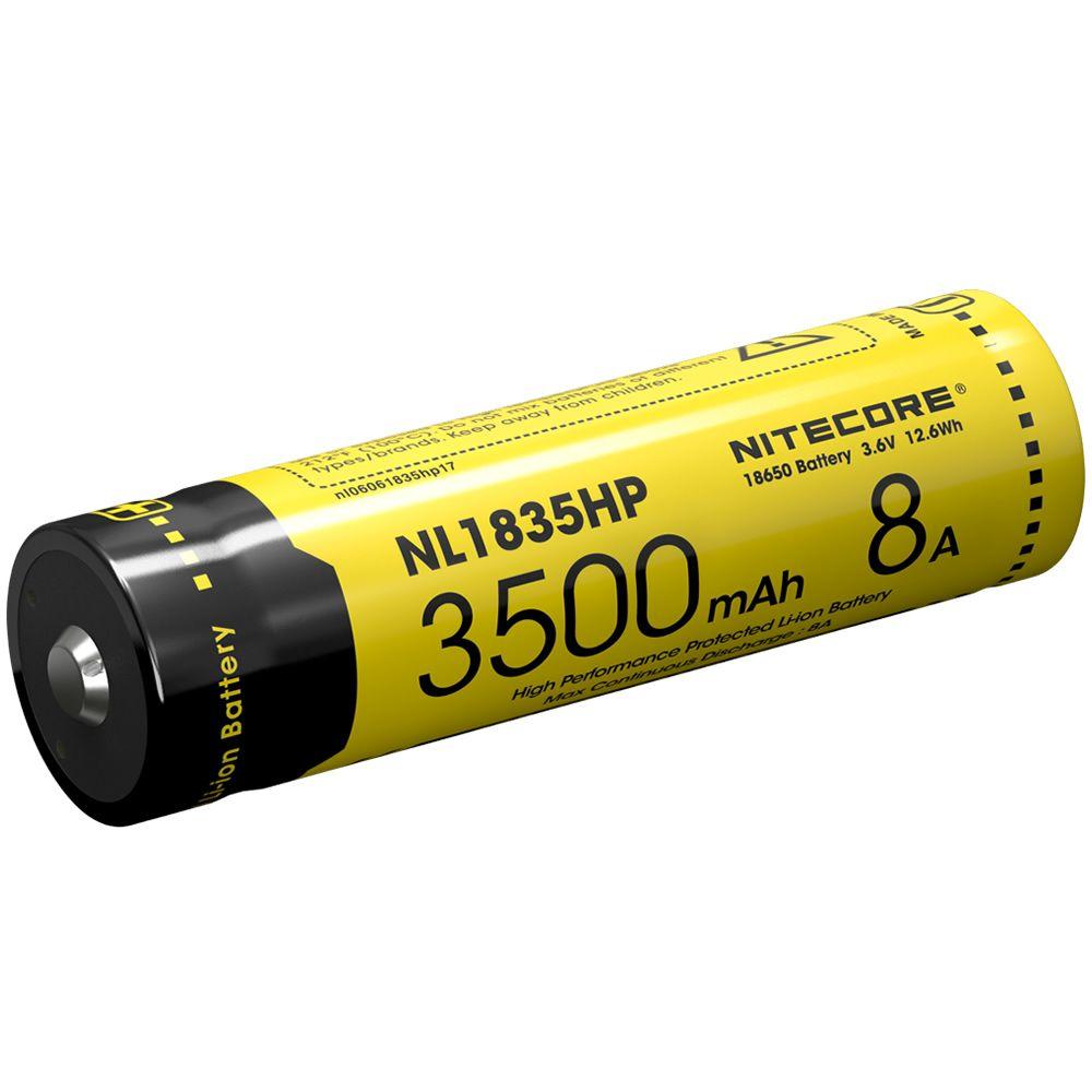 2017 NL1835HP Alto Rendimiento Nitecore 18650 3500 mAh 3.6 V 12.6Wh 8A Protegida Li-ion Botón Superior de La Batería de Alto Consumo dispositivos