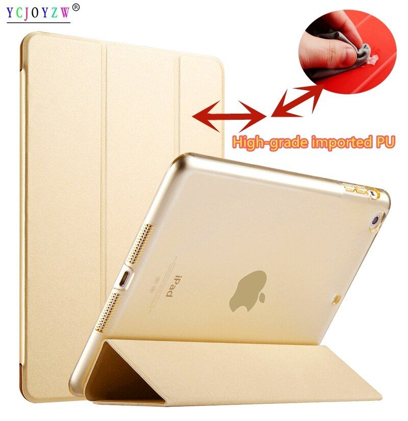 New PU Case For Apple ipad Air 2 (2014 ): A1566`A1567 case ,PU Leather Smart Cover + PC case Auto Sleep protective shell-YCJOYZW
