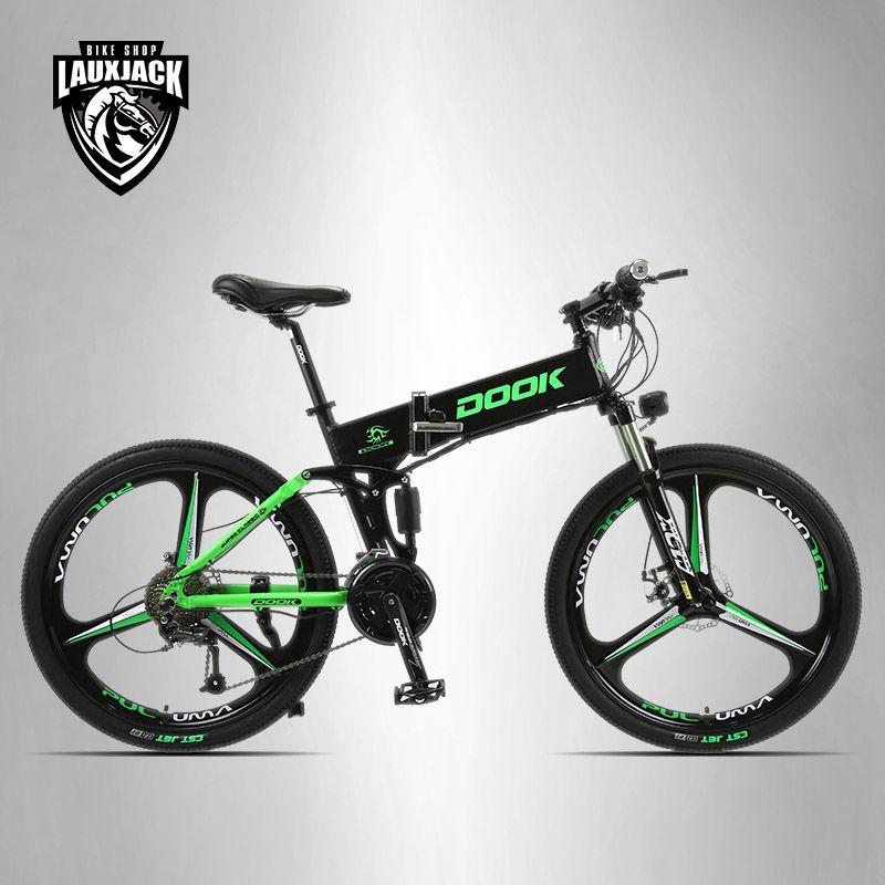 DOOK Montagne Vélo Électrique Full Suspension En Aluminium Cadre Pliant 27 Vitesse Shimano Altus Mécanicien De Frein 26