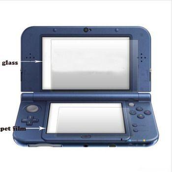 Top Gehärtetem Glas LCD Screen Protector + Bottom PET Klar Full Cover Schützende Film Schutz für Nintendo Neue 3DS XL /LL 3 DSXL/3 DSLL