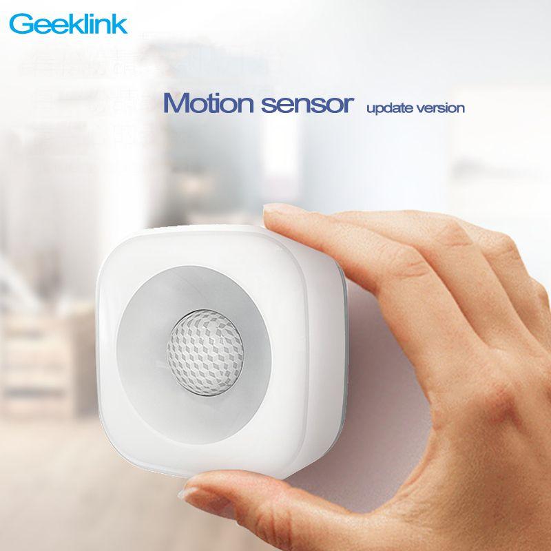 Le plus nouveau capteur de mouvement sans fil de maison intelligente de Geeklink, détecteur de corps infrarouge grand-angle capteur de Pir télécommande de Geeklink Thinker