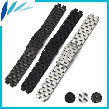 Stainless Steel Watch Band 22mm for Pebble Steel 2 Butterfly Clasp Watchband Strap Wrist Loop Belt Bracelet Black Silver + Tool