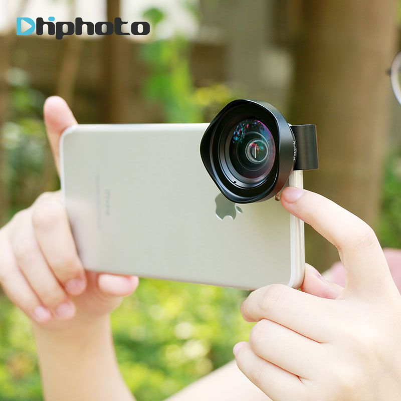 Ulanzi Professional 16mm Super 4K Wide Angle Cell Phone lens HD No Distortion Camera lenses for iPhone X 8 iPad 4 Huawei Mobile