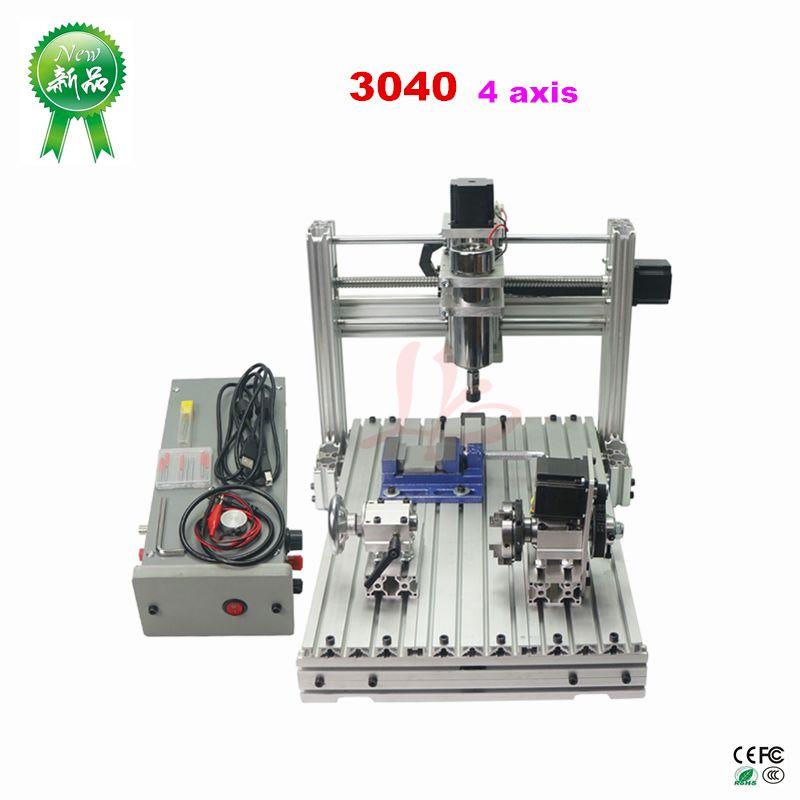 Kleine cnc fräsen maschine Mini DIY CNC router maschine 3040 4 achsen CNC gravur maschine für holz