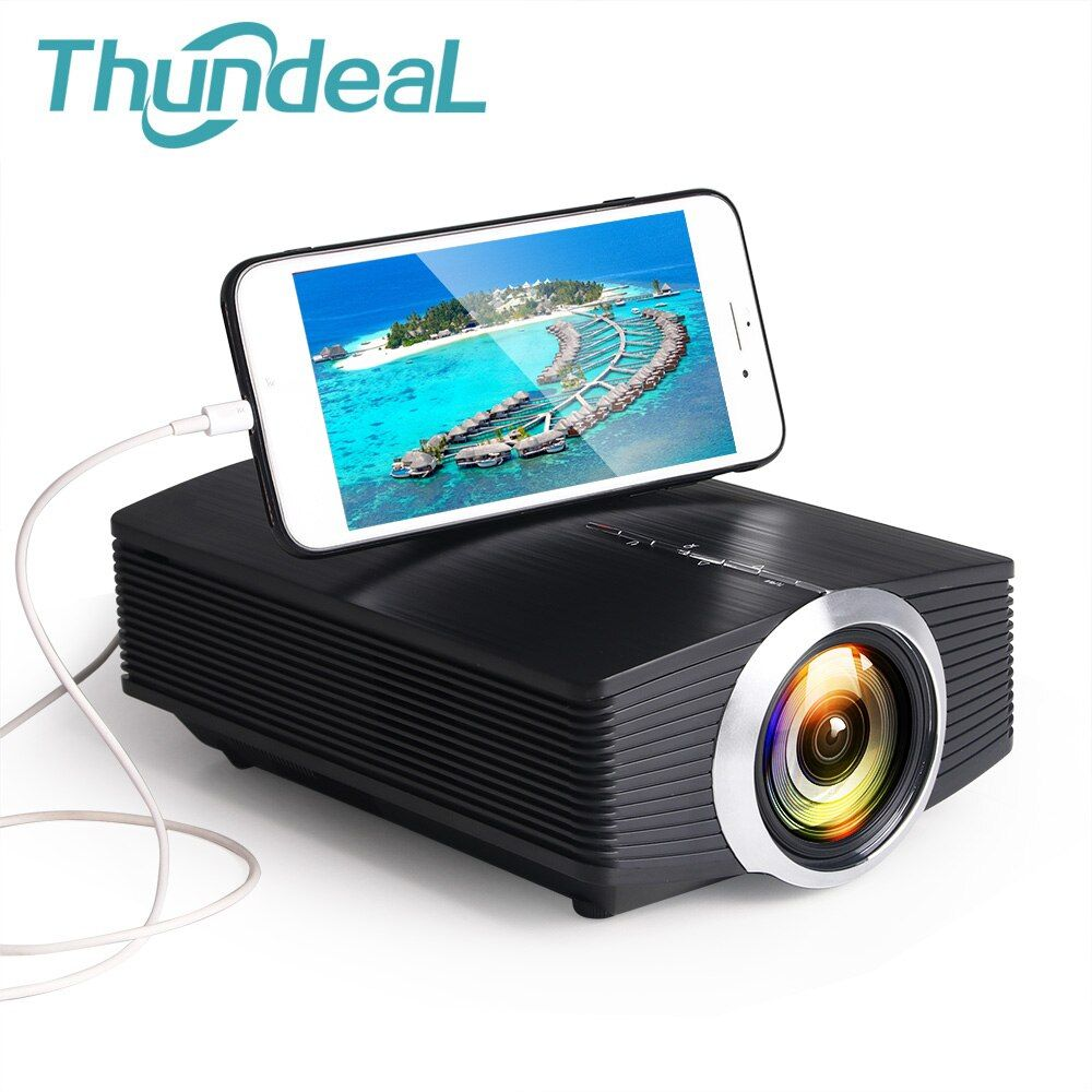 ThundeaL YG500 YG510 Gm80a Mini projecteur 1800 Lumens LED LCD VGA HDMI AC3 Support projecteur 1080P YG500A 3D projecteur pas cher