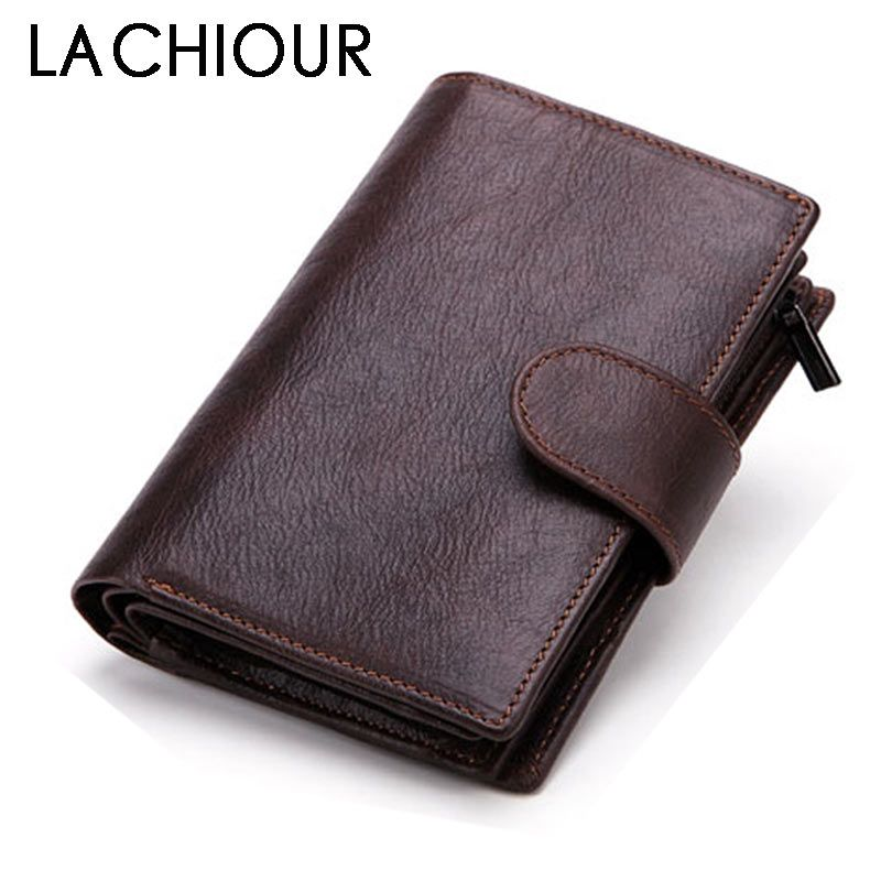 Fashion Genuine Leather Wallet Men Hasp Driving License Photo Window Male Purse Carteira Passport Cover Card Holder Wallet