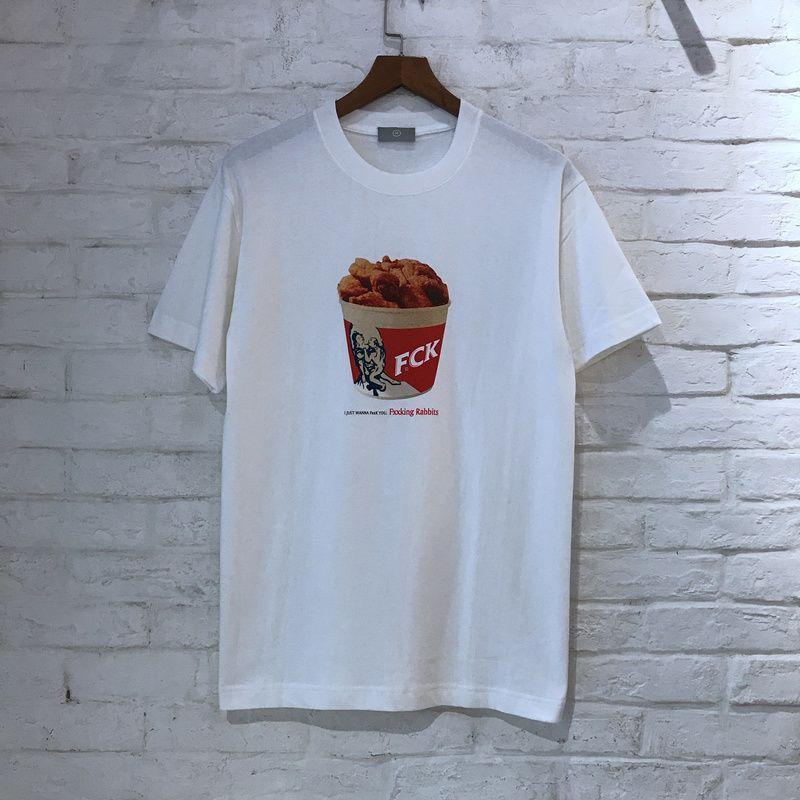 2018 FXXKING KANINCHEN FCK Gebraten huhn Gedruckt Frauen Männer T shirts t-stücke Hiphop Streetwear Sommer Männer Baumwolle T shirt