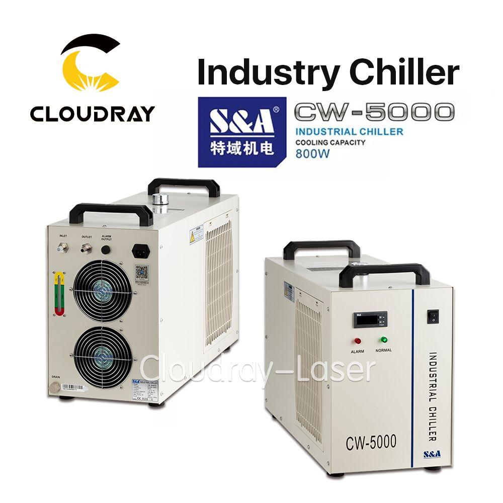Cloudray S & A CW5000 Industrie Luft Wasserkühler für CO2 Laser Gravur Schneiden Maschine Kühlung 80 W 100 W laser Rohr