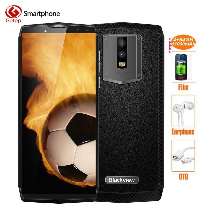 Blackview P10000 PRO Smartphone 11000 mah große batterie 5 v/5A MT6763 Gesicht ID 4 gb 64 gb 18:9 5,99