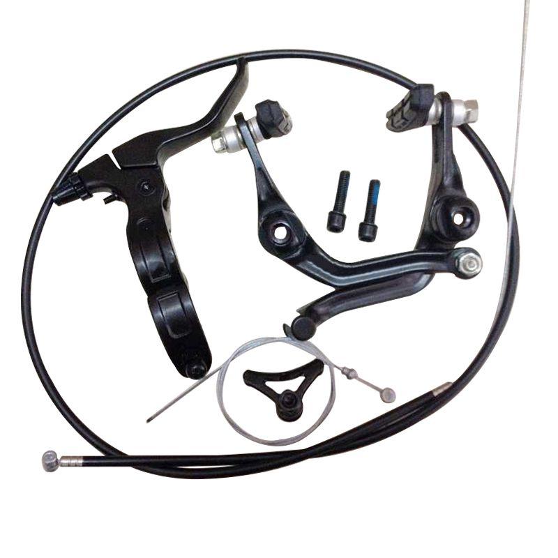 2018 nouveau BMX frein (pliage) poignée de frein droite ensemble complet après la ligne pince pièces de vélo BMX pièces v-frein u-brake SCJ009