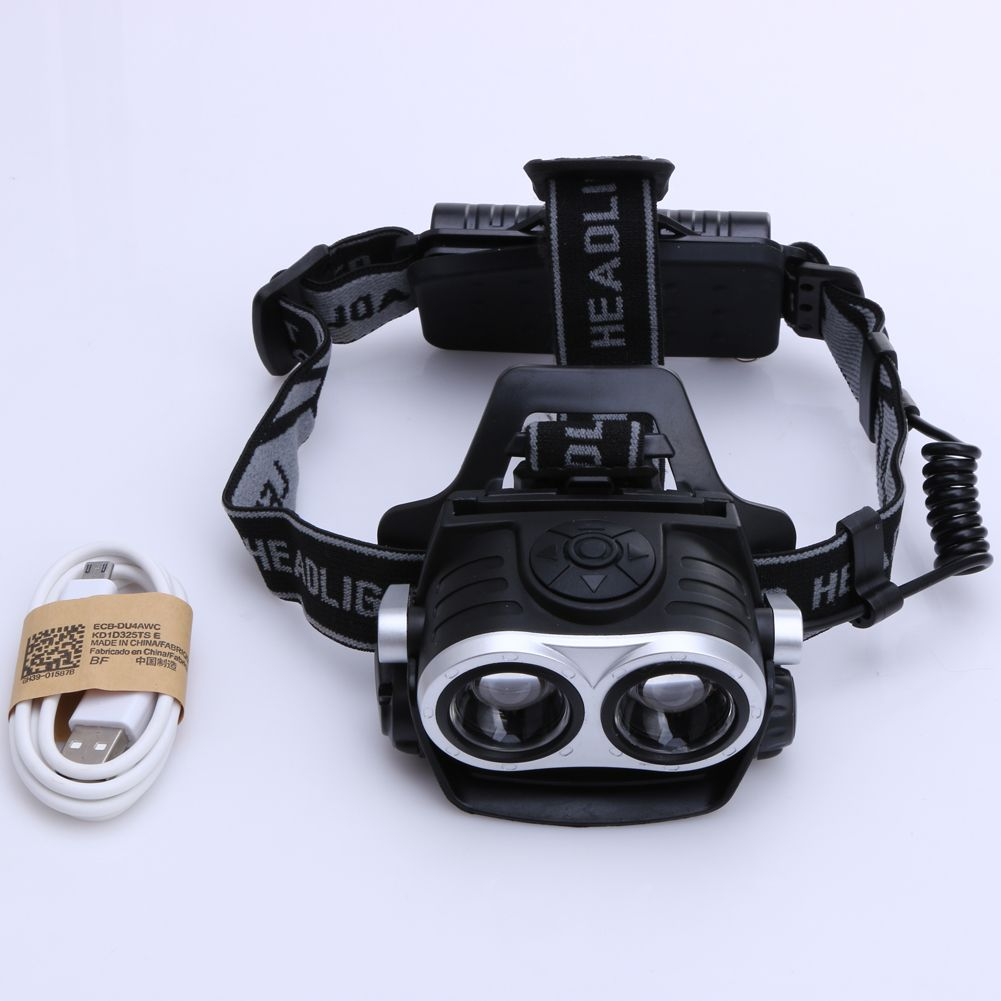 10000Lm 2x T6 LED Rechargeable Cycling Headlamp Bicycle Zoomable Headlight Torch Waterproof USB Charging Outdoor Camping Lights