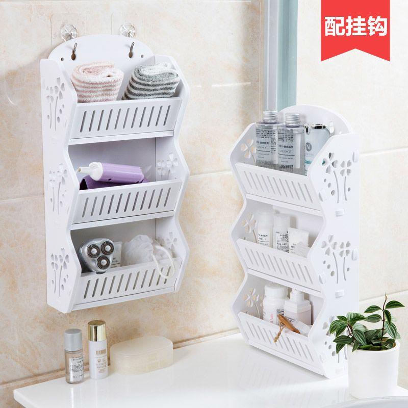 Kostenlos perforierte wand lagerregal badezimmer mehrgeschossigen regale bad tisch bodenregale waschen racks