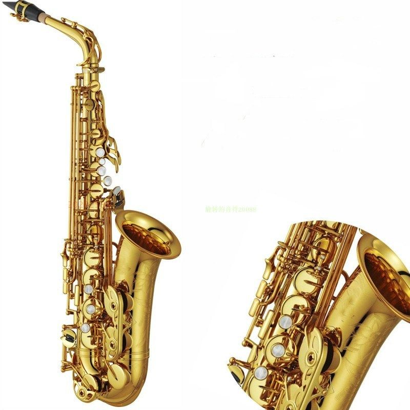 High Quality YAS82Z E flat Alto saxophone music Instrument professional grade Electrophoretic gold saxophone Brass Accessories