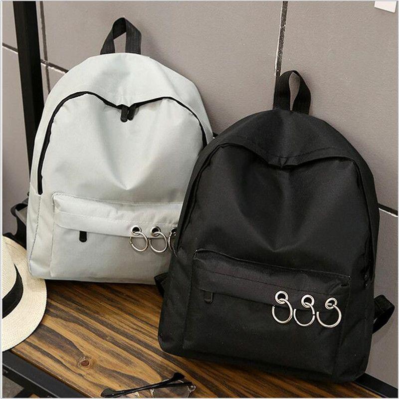 Qicaiyanzi Мода 2017 г. Для женщин рюкзак Для мужчин и Для женщин в школьном стиле большой емкости портативный холст сумка