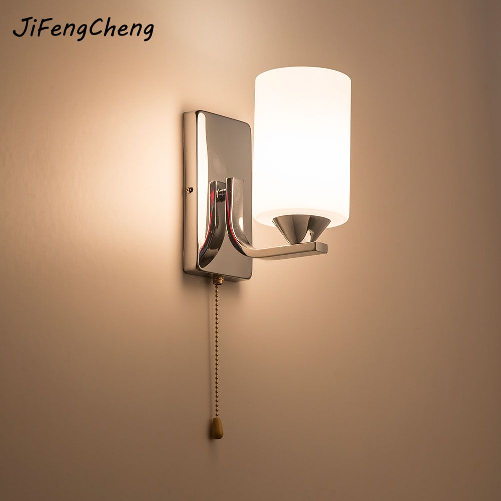 Wall Lamps Indoor Bedroom Simple Style Wall Sconces Wall Light Lamp Bedding Lamp Luminaria Creative Staircase Living Room Lamp