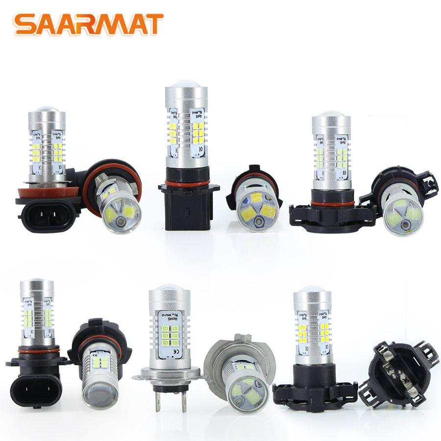 2* Canbus No Error Led H11 H8 HB3 9005 bulbs 9006 HB4 H7 P13W H10 H16(EU)(JP) Car Fog Lights lamp No Flash