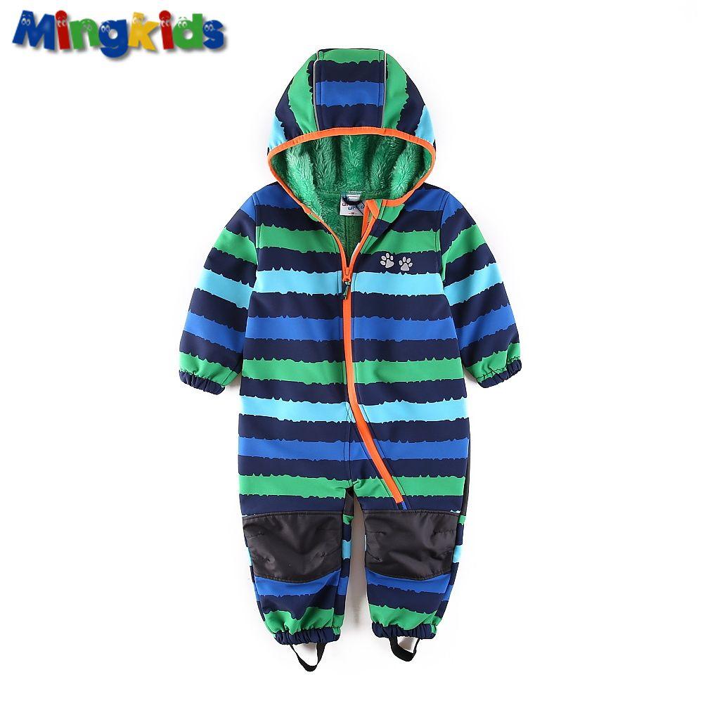 UmkaUmka boy outdoor rompers Kombinezon fleece <font><b>padded</b></font> winter Ski Jumpsuit Warm thicken windproof waterproof autumn spring Europe