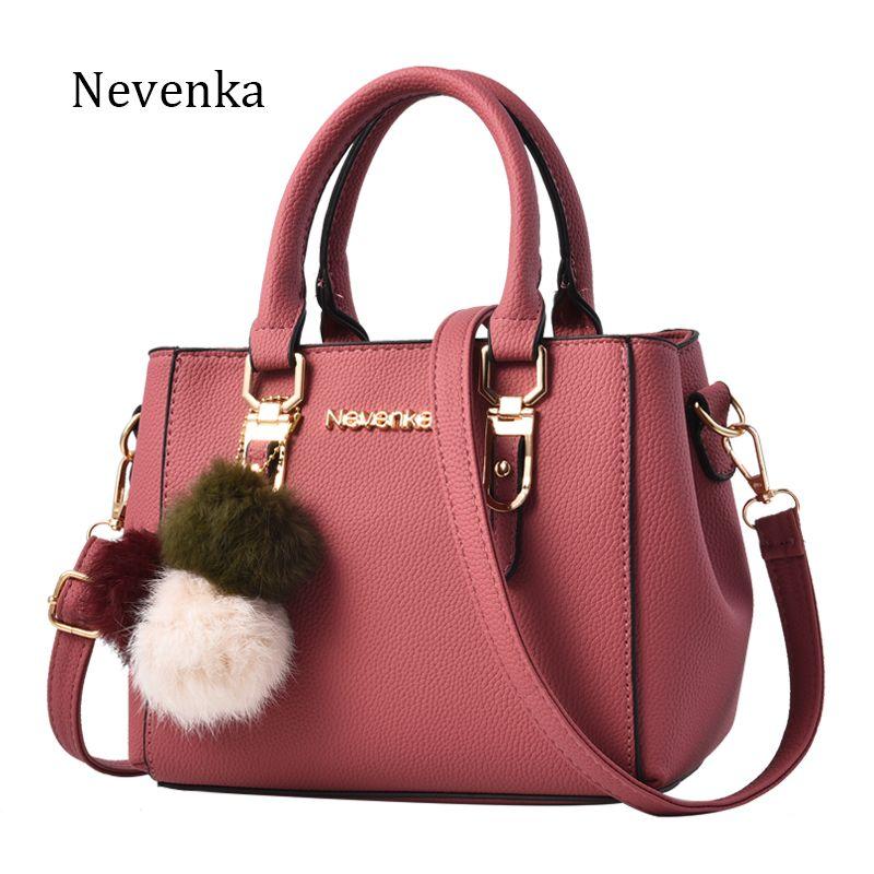 Nevenka Женская сумка Pu Leather Tote Фирменное наименование Сумка Женская сумочка Леди Вечерние сумочки Твердая женская сумка Messenger Travel Fashion Sac