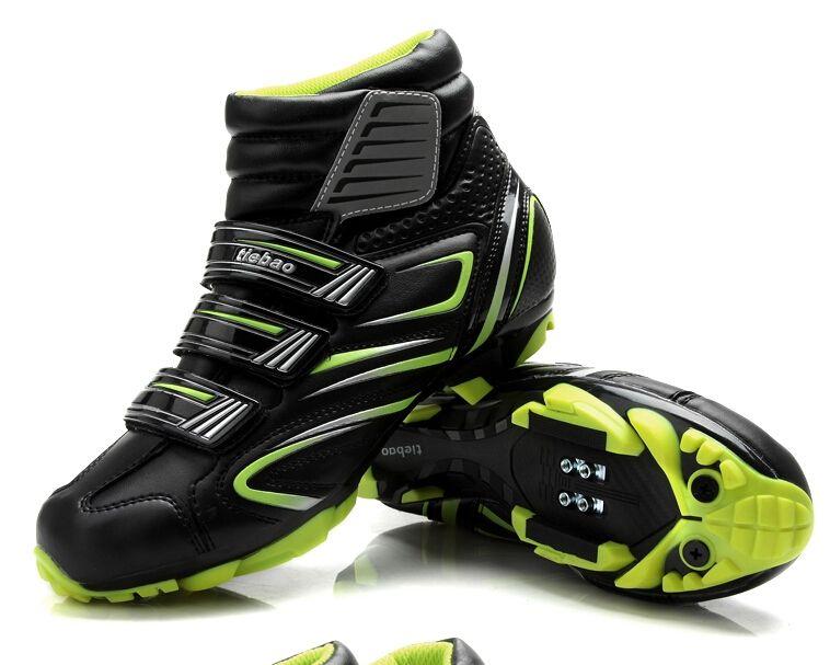 Tiebao Cycling Shoes For Women & Men Winter Cycle Cycling MTB bike Self-locking Shoes Bicycle Boot Sapatilha Ciclismo Zapatillas