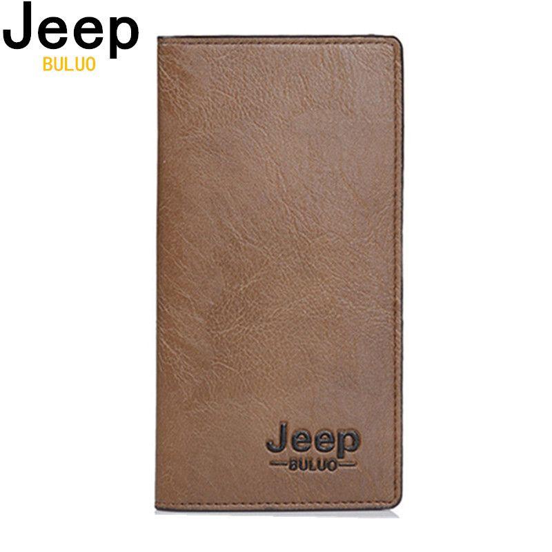 JEEP BULUO portefeuille hommes en cuir hommes portefeuilles affaires marque porte-carte porte-monnaie hommes Long portefeuille pochette carteira masculina 8068