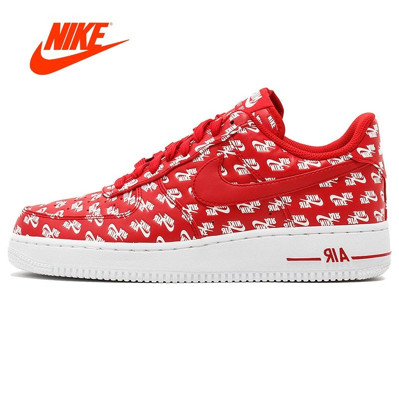 Original New Arrival Authentic Nike Air Force 1 AF1 Logo Men's Air Force One Skateboard Sneakers Comfortable Breathable