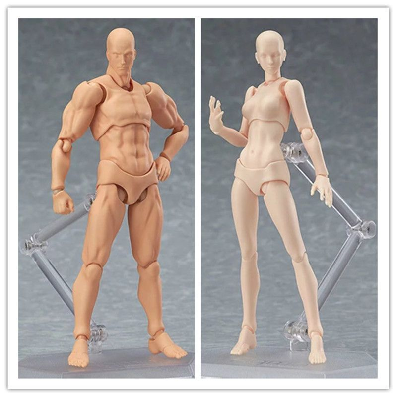 Doub K Action Figure Toys Artist Movable Limbs Male Female 13cm joint body Model Mannequin bjd Art Sketch Draw Figures new style