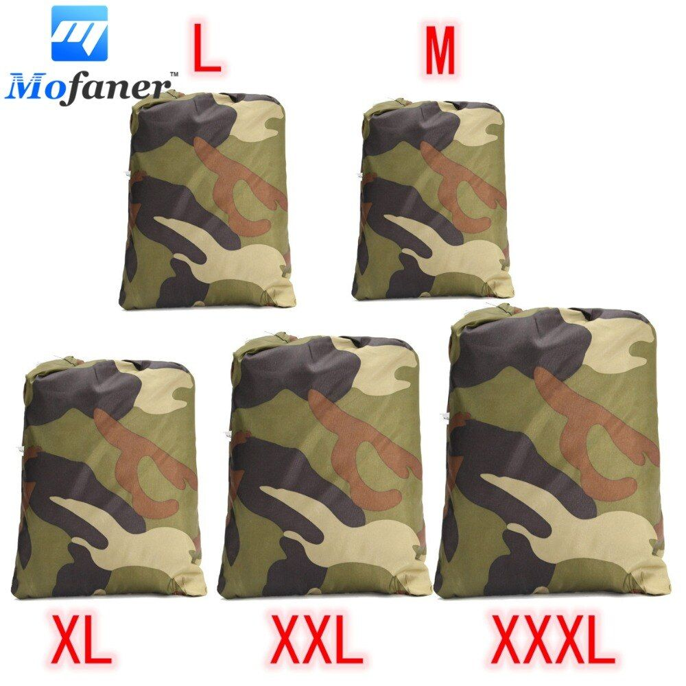 Universal 190T Camouflage Waterproof Motorcycle Cover Quad Vehicle Scooter Motorbike ATV Cover M L XL XXL XXXL
