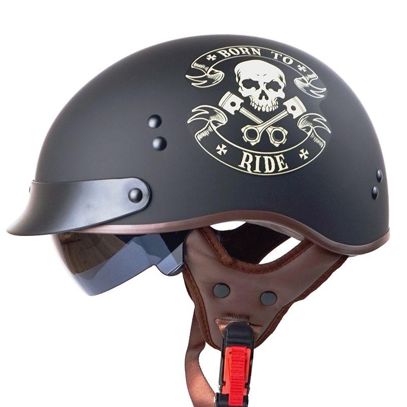 TORC T55 vintage half face motorcycle helmet vespa retro open face harley helmets DOT capacete casco casque moto