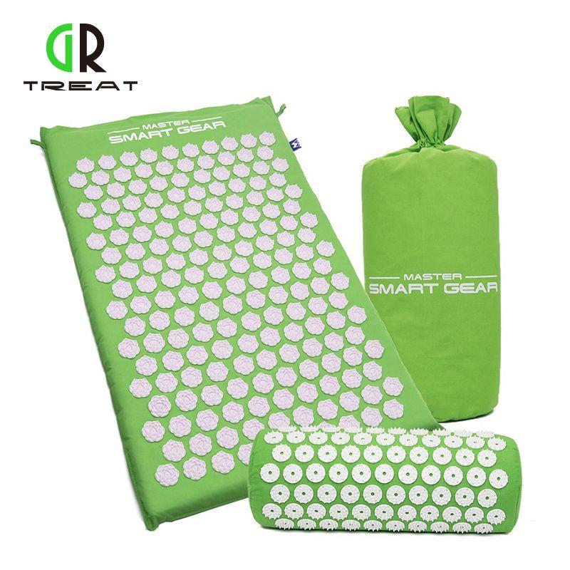 GR Treat <font><b>Lotus</b></font> Acupressure Mat Foot Massage Mat Acupressure Cushion Fitness Yoga Mat Relief Body Pain
