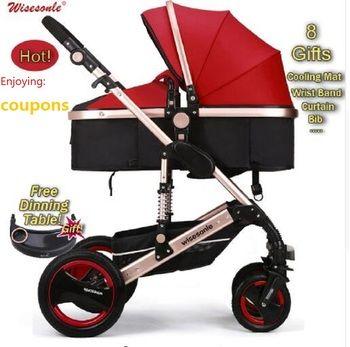 Wiselone Luxus Baby Kinderwagen 2 in 1 High-Landschaft Kinderwagen Tragbare Falten baby Wagen Billiger Baby Kinderwagen