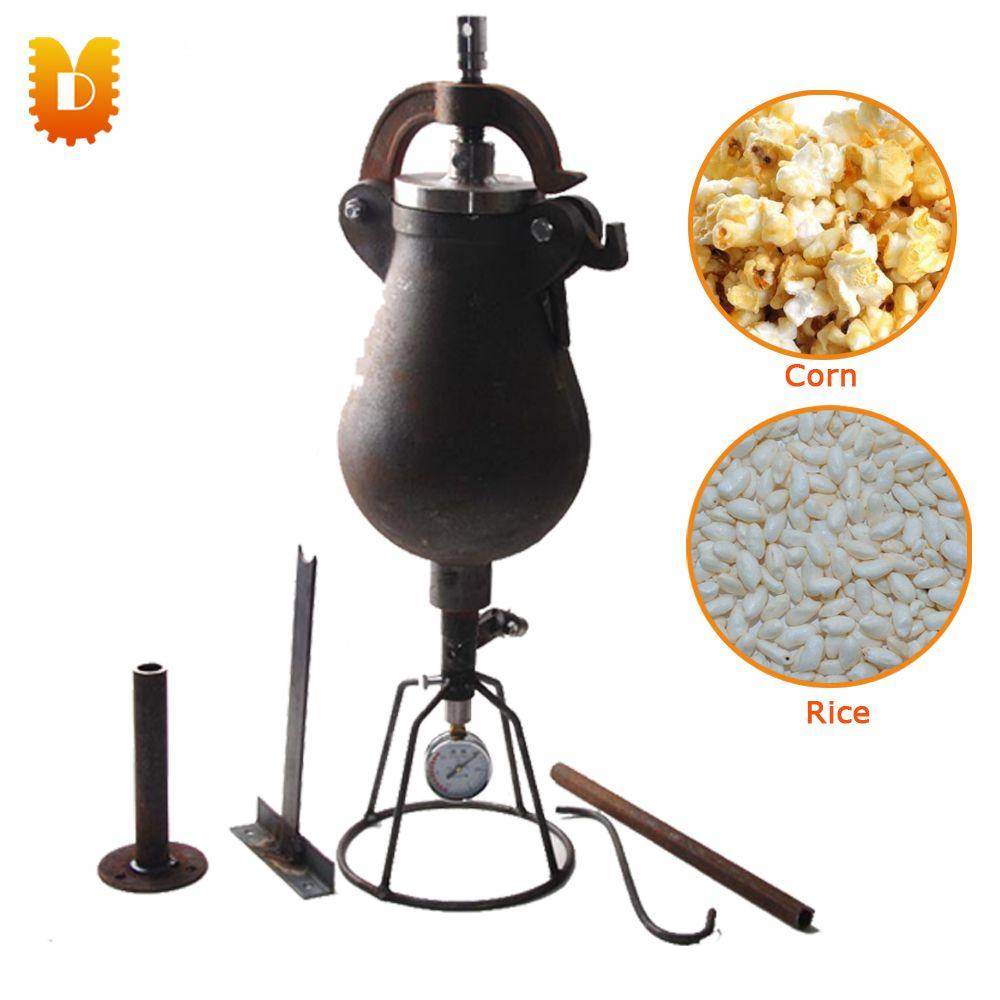 1.5kg/time Hand Popcorn Maker Corn Maize-Popping Machine Rice Puffed Machine/Popcorn Popper