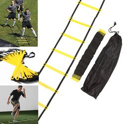 4 Styles 5/8/10/11 Rung Nylon Straps Training Ladders Agility Speed Ladder Stairs for Soccer and Football Speed Ladder Equipment