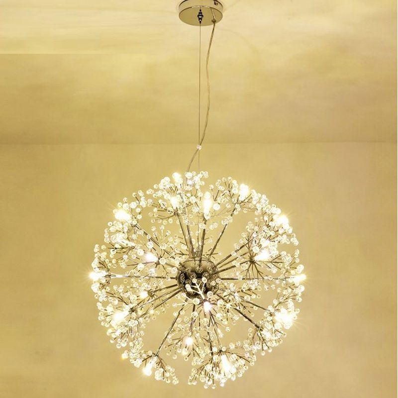 Modern LED Crystal Pendant Lamp Dandelion Chandelier Light Fixture For Dining Room Bedroom Lustres de Cristal AC110V~240V