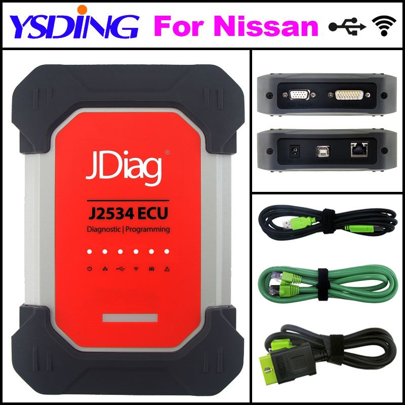 Car Auto Diagnostic Tool JDiag Elite II pro JDiag Elite II Diagnostic&ECU Programmer tool JDiag J2534 For Nissan