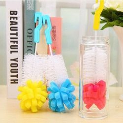 1 pcs Bébé Bouteille Brosses de nettoyage tasse brosse pour mamelon bec tube enfants Alimentation Brosse De Nettoyage